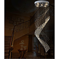 "Modern Spiral Clear Crystal chandelier Pendant Lights Ceiling Lamps Lighting Fixtures with D15.75"" H47.24"""