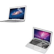 """Ultra Tynde Gennemsigtig TPU Blød Tastatur Beskytter Dække + Beskyttende Klar Skærm Beskyttelse For 11,6"""" /13.3"""" Macbook Air"""
