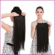 """קליפ 1pc 140 24 """"בתוספות שיער ארוכות וישרות חתיכות שיער ססגוניות סיבים סינטטי עמידים בחום"""