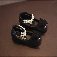 Bez podpatku-PU-Gladiátorské-Dívčí-Černá-Běžné-Plochá podrážka
