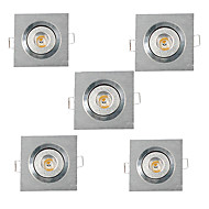3W תאורה בשקעים מובנה לד בכוח גבוה 200-300 lm לבן חם לבן קר AC 220-240 AC 110-130 V חמישה חלקים