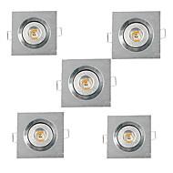 3W Zápustná světla Zápustná High Power LED 200-300 lm Teplá bílá Chladná bílá AC 220-240 AC 110-130 V 5 ks