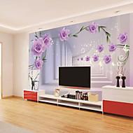 Blomster Tapet til Hjemmet Moderne Tapetsering , Andre Materiale selvklebende nødvendig bakgrunns , Tapet