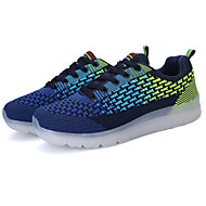 Men's Athletic Shoes Spring Summer Fall Winter Comfort Novelty Light Up Shoes Tulle Outdoor Casual Athletic Flat HeelLace-up Hook & Loop