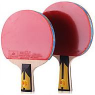 6 Sterne Ping Pang/Tischtennis-Schläger Ping Pang Holz Langer Griff Pickel