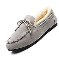 Women's Boat Shoes Spring Fall Winter Comfort Suede Casual Flat Heel Slip-on Black Brown Red Gray