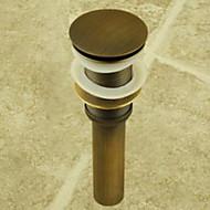 Altmessing Pop-up-drain für Waschtisch / Lavabo (0698 -1003)