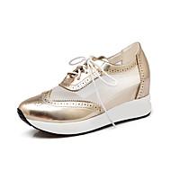 Sneakers-Kunstlæder-Plateau-Dame-Blå Rosa Sølv Guld-Udendørs Fritid-Platå