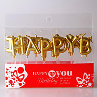 Golden Happy Birthday Happy Birthday Letters Candles Holiday Modern/Contemporary Holidays