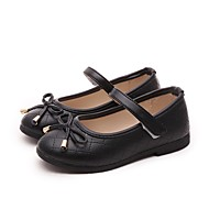 Girl's Flats Spring Fall Mary Jane Leatherette Casual Flat Heel Black Pink Red White