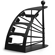 melhor caddy tv sellingremotecontrol titular / storage - de metal preta arqueada