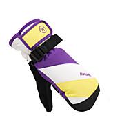 スキー手袋 フルフィンガー フリーサイズ スポーツグローブ 保温 / 耐雪性 スキー / レジャースポーツ コットン / PU スキーグローブ 秋 / 冬 イエロー / レッド / パープル