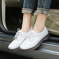 Women's Sneakers Spring / Fall Comfort Leather Outdoor Chunky Heel Others Black / White Others