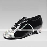 Sapatos de Dança ( Preto ) - Homens / Crianças - Customizáveis - Latim / Jazz / Sapatilhas de Dança / Moderno / Flamenco