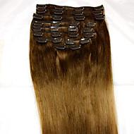 8pcs / set 24 Zoll # 6 remy Menschenhaarverlängerungen Haarverlängerung Art Menschenhaarverlängerungen (110 g)