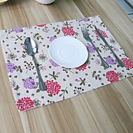 Obdélníkový Grafika / Se vzorem / Květinový Prostírání , Směs bavlny Materiál Hotel Jídelní stůl / Tabulka Dceoration