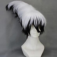 Kobieta Peruki syntetyczne Bez czepka Krótki Falowane Czarny / Szary Fryzura asymetryczna Fryzura cieniowana Z grzywką cosplay peruka