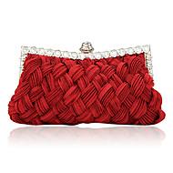 Žene Saten Zabave Večernja torbica Bijela Bež Ljubičasta Crvena Crna