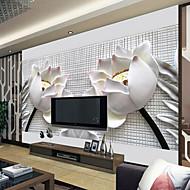 šplhat kůže efekt velká nástěnná tapeta 3d lotus umění stěna dekor pro obývací pokoj TV soaf pozadí