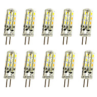 10 Pcs 1W G4 LED Bi-pin Lights  24 SMD 3014 100LM  Dimmable  Warm White / Cool White DC12V