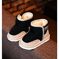 Girl's Baby Boots Comfort Suede Casual Black Pink Gray