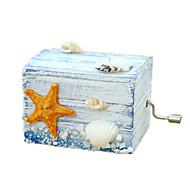 Music Box Castle in the Sky Sweet / Special / Creative Wood / Ceramics Blue / Orange