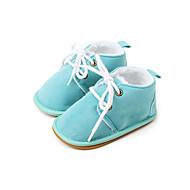 Gyermek Lány Baba Csizmák Első cipő Puhatalpú cipő Szövet Ősz Tél Hétköznapi Első cipő Puhatalpú cipőTengerészkék Piros Rózsaszín