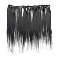 5 Teledyski 18inch klamerka w ludzkich włosów rozszerzeniach 41g czystego koloru proste włosy