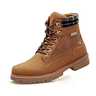 Men's Boots Spring Fall Comfort PU Outdoor Flat Heel Lace-up Brown