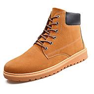Bootsit-Tasapohja-Miesten-PU-Sininen Tummanruskea Pronssi-Ulkoilu-Comfort