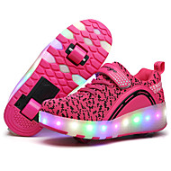 Kids Boy Girl's Roller Skate Shoes / Ultra-light Two Wheel Skating LED Light Shoes / Athletic / Casual LED Heely's Shoes Black Pink Blue