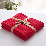 Tricotado Como na Imagem,Sólido Sólido 100% Algodão cobertores S:120*180cm M:180*200cm