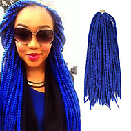 Box Braids twist Braids Hair Extensions 24Inch Kanelkalon 24 Strands (Recommended By 5 Packs for a Full Head) Strand 90g gram Hår Braids