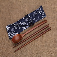 Wood Set Spoons Chopsticks Single