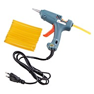 1Pcs 20W EU Plug Mini-Electronic Glue Gun  12Pcs Keratin Fusion Hair Glue Sticks