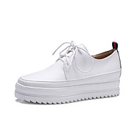Women's Sneakers Spring Summer Fall Creepers PU Office & Career Casual Party & Evening Creepers Black White