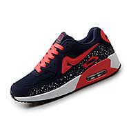 Feminino-Tênis-Conforto-Rasteiro-Preto Azul Vermelho Cinza-Tecido Couro Ecológico-Ar-Livre Para Esporte
