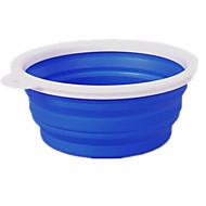 Chat Chien Bols & Bouteilles d'eau Animaux de Compagnie Bols & alimentation Portable Pliable Rouge Vert Bleu Silicone
