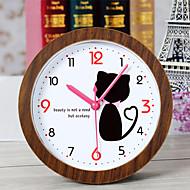 créatif beau chat horloge horloge de bureau bureau réveil horloge de table maison créative mode décorative montres muets