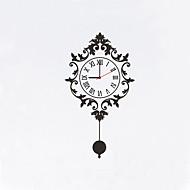 Μοντέρνο/Σύγχρονο Άνθινο/Βοτανικό Χαρακτήρες Εμπνευστικό Γάμος Οικογένεια Φίλοι Ρολόι τοίχου,Νεωτερισμός Πλαστικό Άλλα 81*45