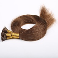 내가 100 단위가 많은 각질이 두꺼운 난 브라질 머리를 팁 / 인간의 머리카락 확장 팁 24 인치 7A 학년 - 페루 처녀 머리 내가 0.5G / s의 16 인치 붙임 머리 팁