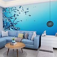 Blumen Art Deco 3D Tapete Für Privatanwender Zeitgenössisch Wandverkleidung , Leinwand Stoff Klebstoff erforderlich Wandgemälde ,