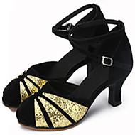 Obyčejné-Dámské-Taneční boty-Latina Jazz-Kůže Samet Třpytky-Na zakázku-Červená Stříbrná Zlatá