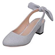 Feminino-Saltos-Conforto Inovador-Salto Grosso Salto de bloco-Dourado Prata Roxo Azul-Gliter Materiais Customizados Courino-Casamento