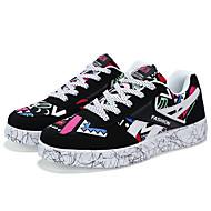 Kényelmes-Lapos-Női cipő-Tornacipők-Alkalmi-PU-Fekete Sárga Rózsaszín
