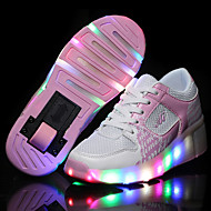 Kid Boy Girl Wheelys Roller Skate Shoes / Ultra-light Single Wheel Skating LED Light Shoes / Athletic / Casual LED Shoes Black Blue Pink
