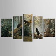canvas Set Animal Floral/Botânico Clássico Estilo Europeu,5 Painéis Tela Qualquer Forma Impressão artística wall Decor For Decoração para