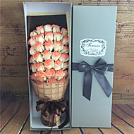 33pcs 1box Valentine's Day Gift &mother's Day Gift 33 Soap Flower Bouquet of Roses Flower Simulation Birthday Gift Ideas