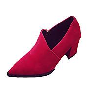 Homme-Décontracté-Noir Vert Rouge Gris-Talon Plat-Confort-Chaussures à Talons-Polyuréthane