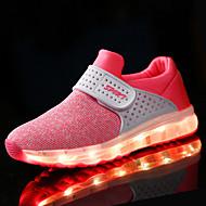 Sneakers-Stof-Komfort-Drenge-Sort Blå Grøn Rosa Rød Mørkeblå-Sport-Flad hæl